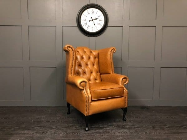 Crystal Bruciato Essex Chesterfield Wing Chair