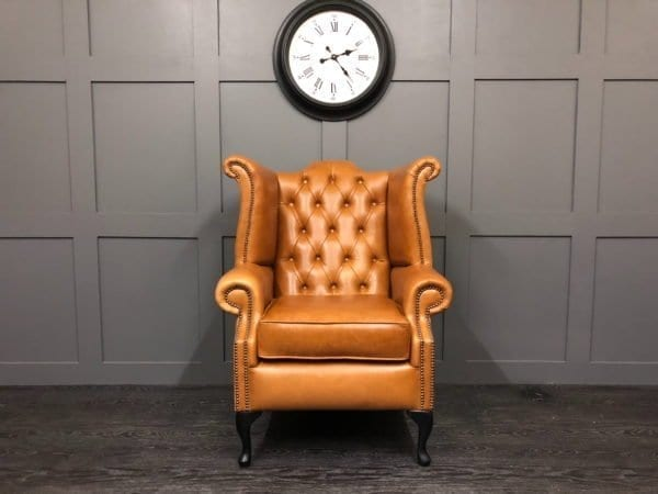 Crystal Bruciato Essex Chesterfield Wing Chair 1
