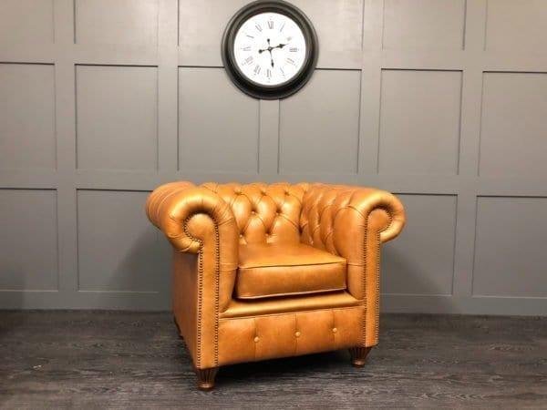 Crystal Bruciato Essex Chesterfield Club Chair