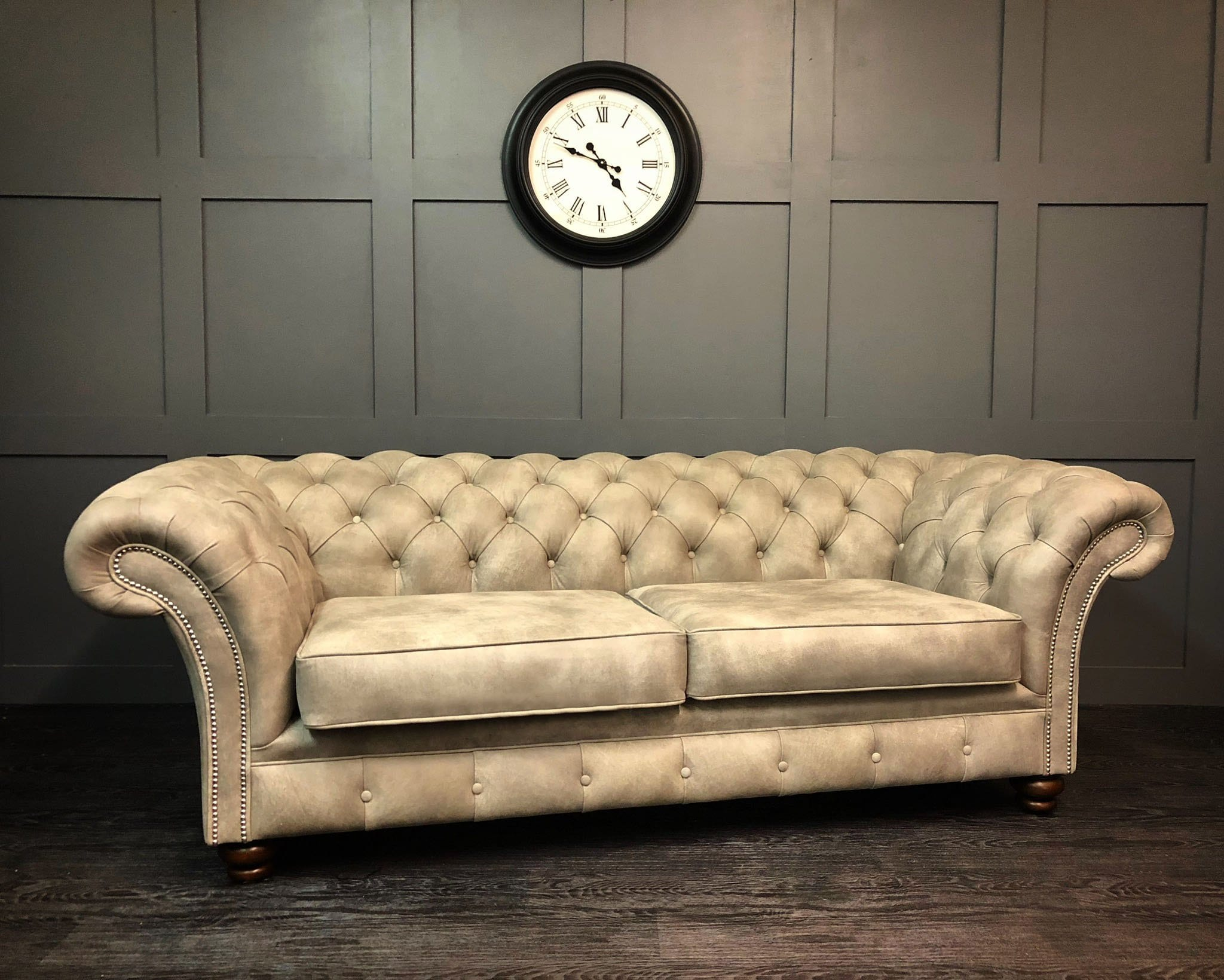 Rustic Leather London 3 seat chesterfield