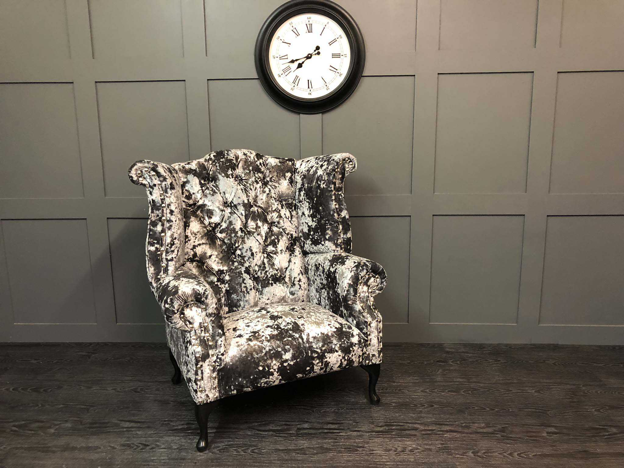 Orpington Flint Lustro wing chair