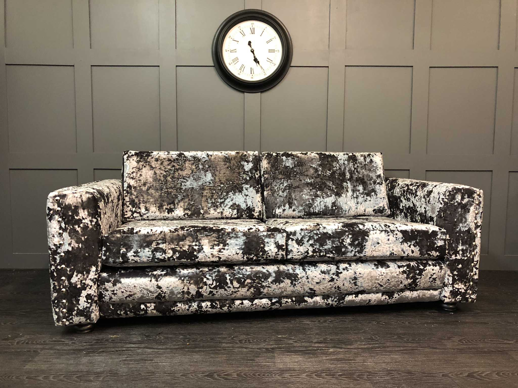 the Harrogate sofa cristina marrone flint crushed velvet