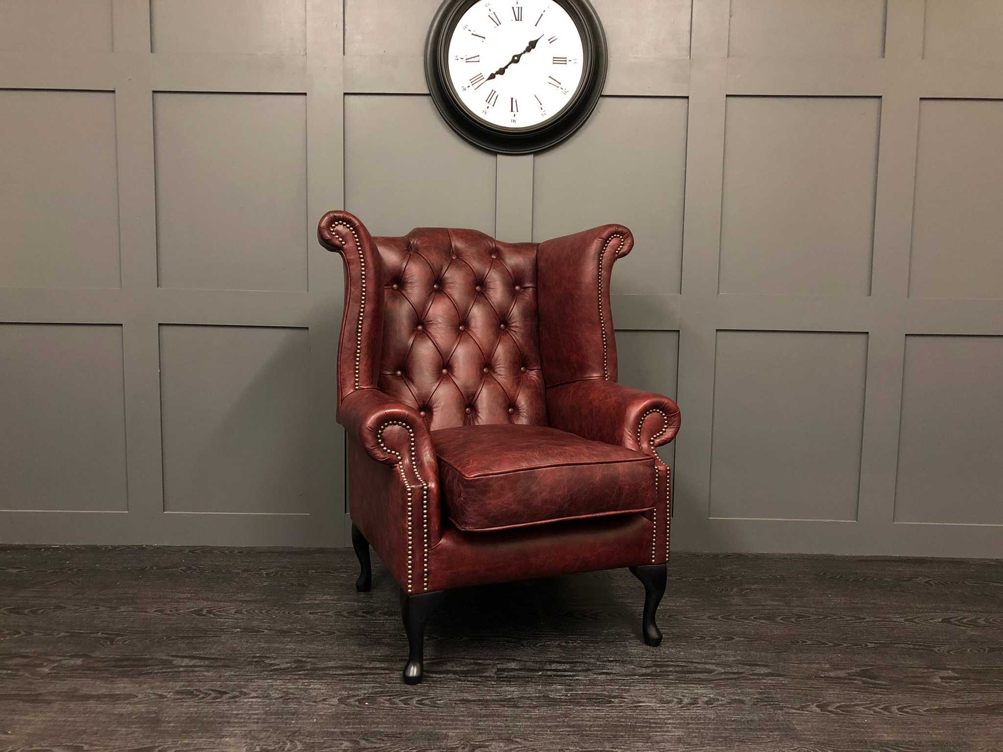 Vintage Oxblood Kent Wing back chair