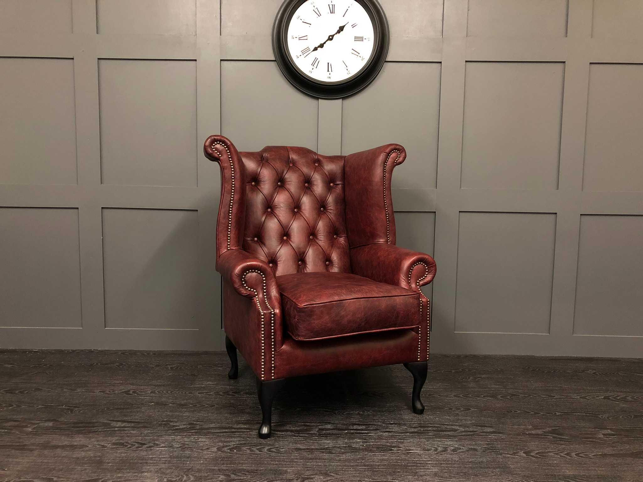 Vintage Oxblood Kent Wing Back Chair