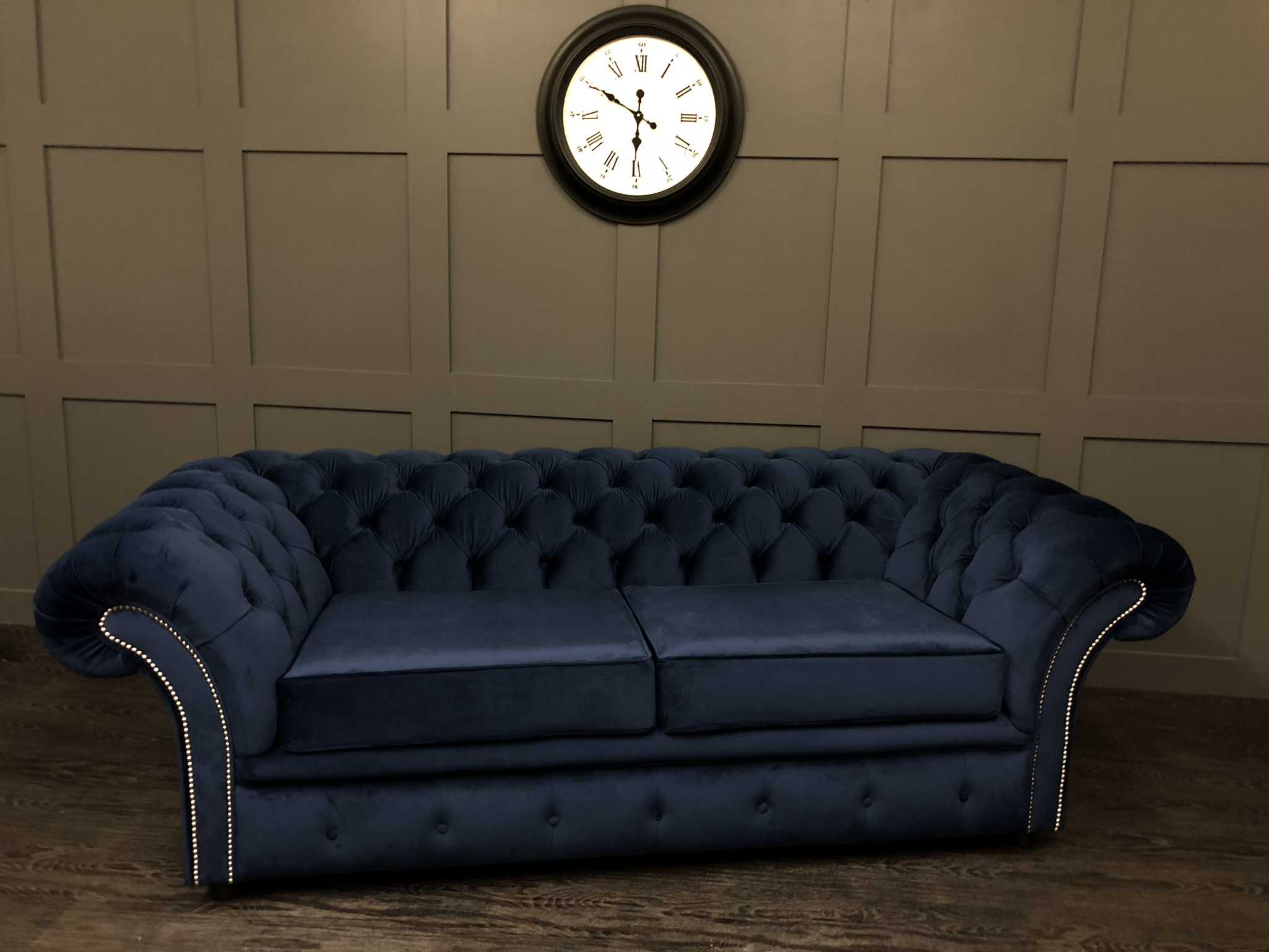 London 2 seat sofa bed cambio royal plush velvet