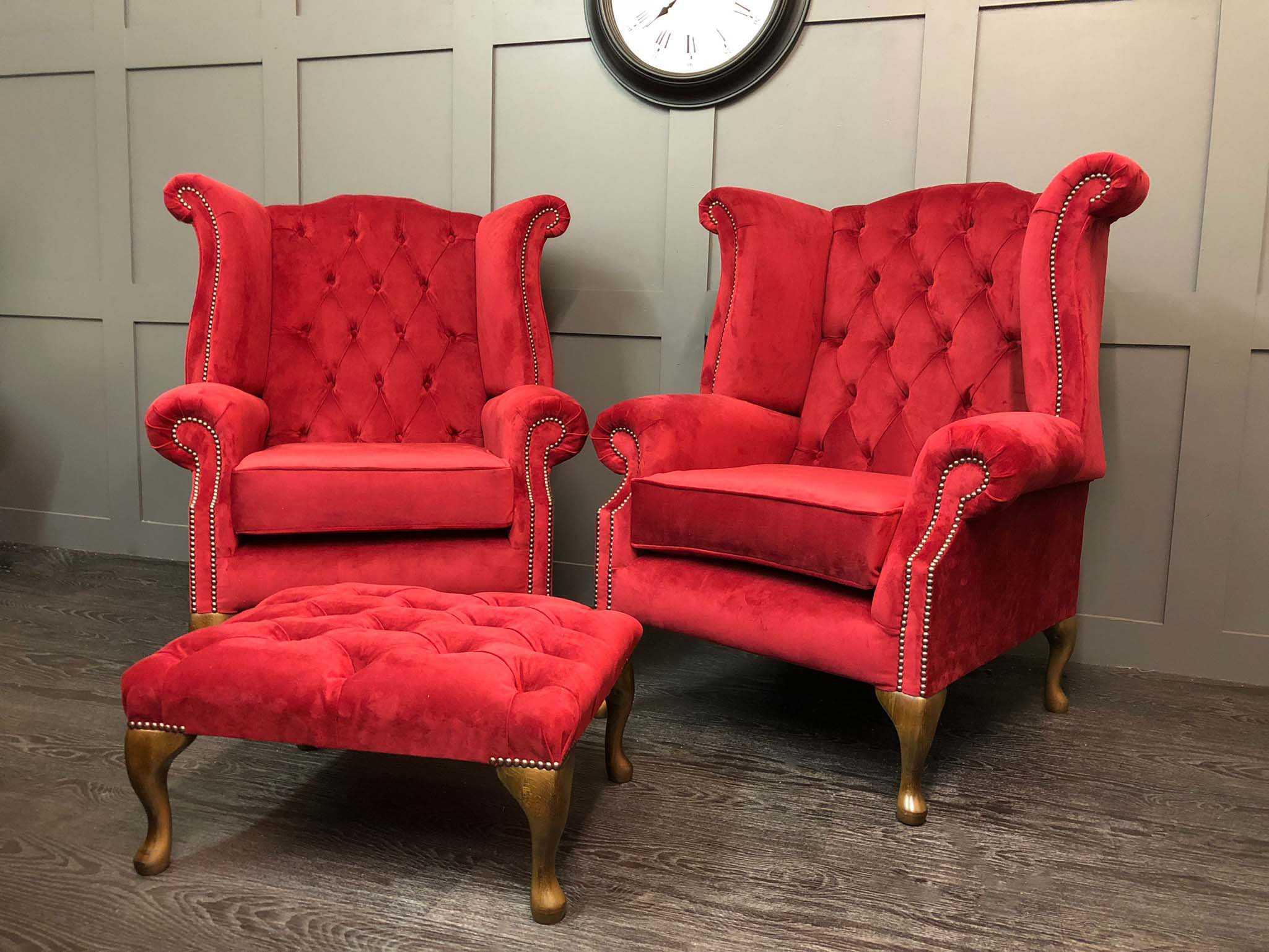 Kent Wing Chairs Plush Shiraz