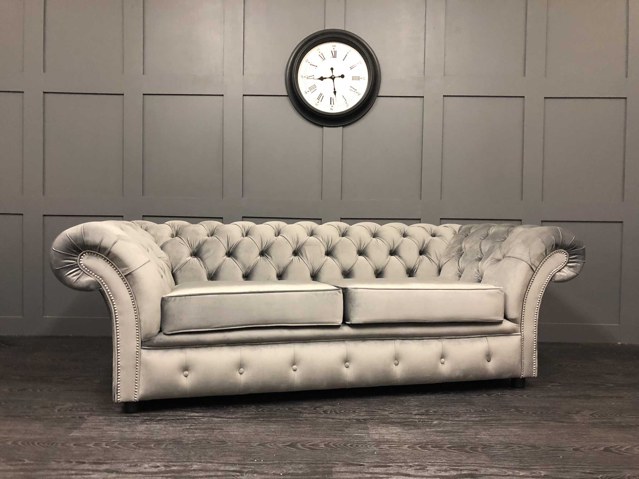 Cambio Steel plush velvet London Sofa Bed
