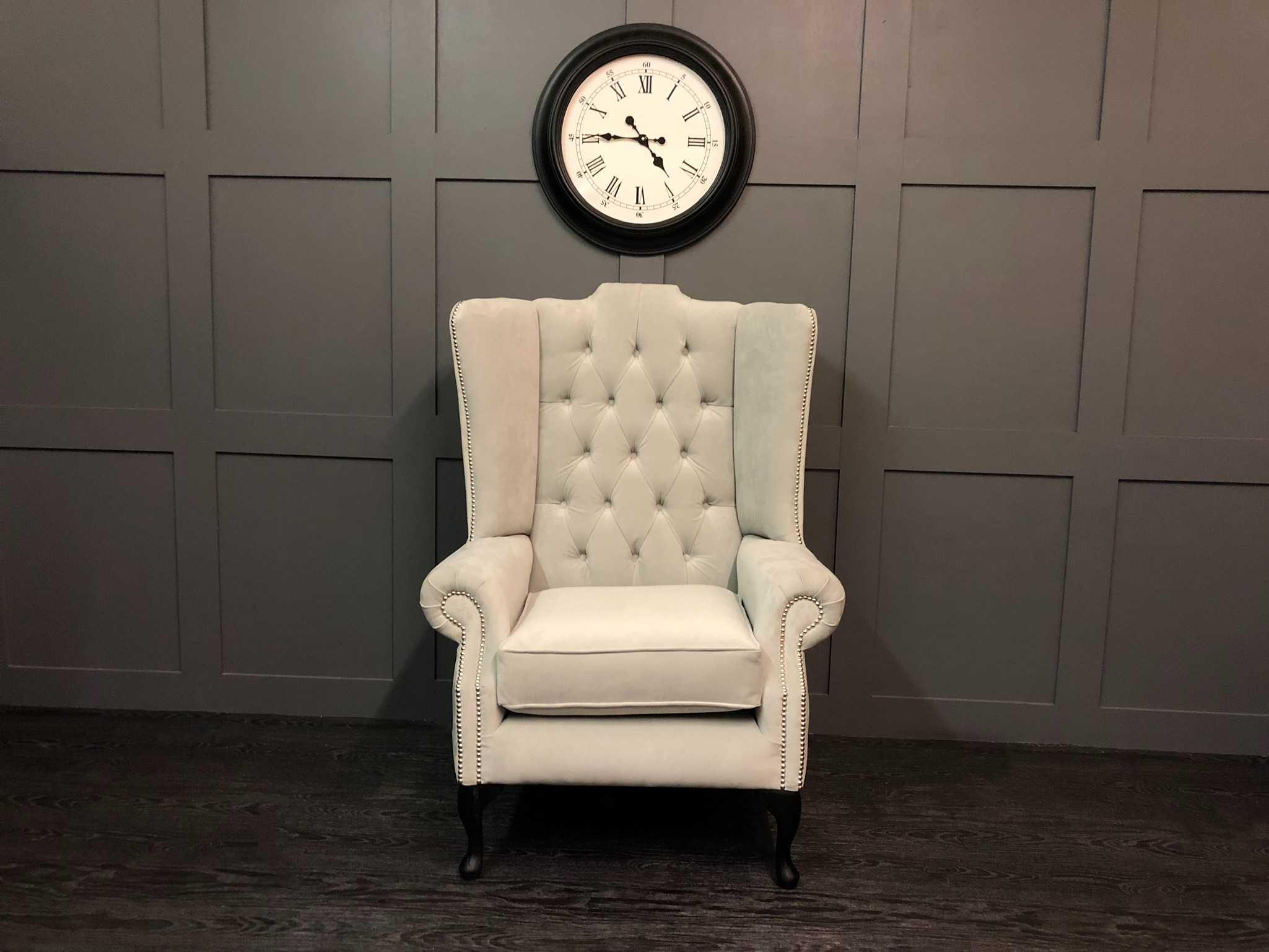 Oakley Wing Chair - Plush Silver