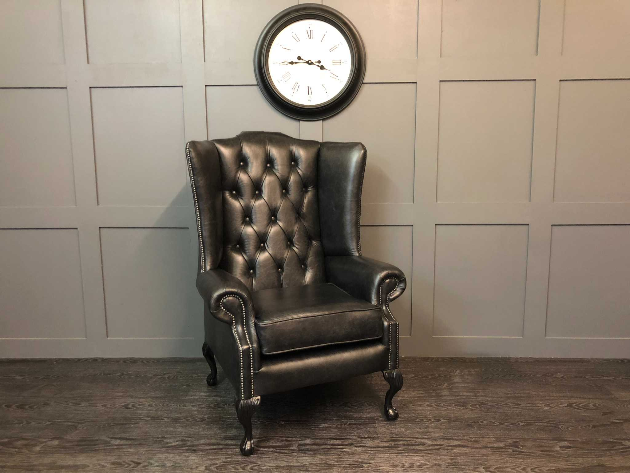 Dune Charcoal Oakley wing chair