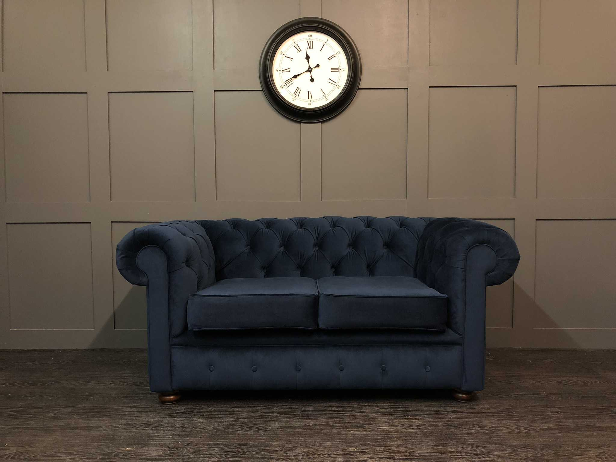 essex 2 seat chesterfield warwick plush velvet indigo