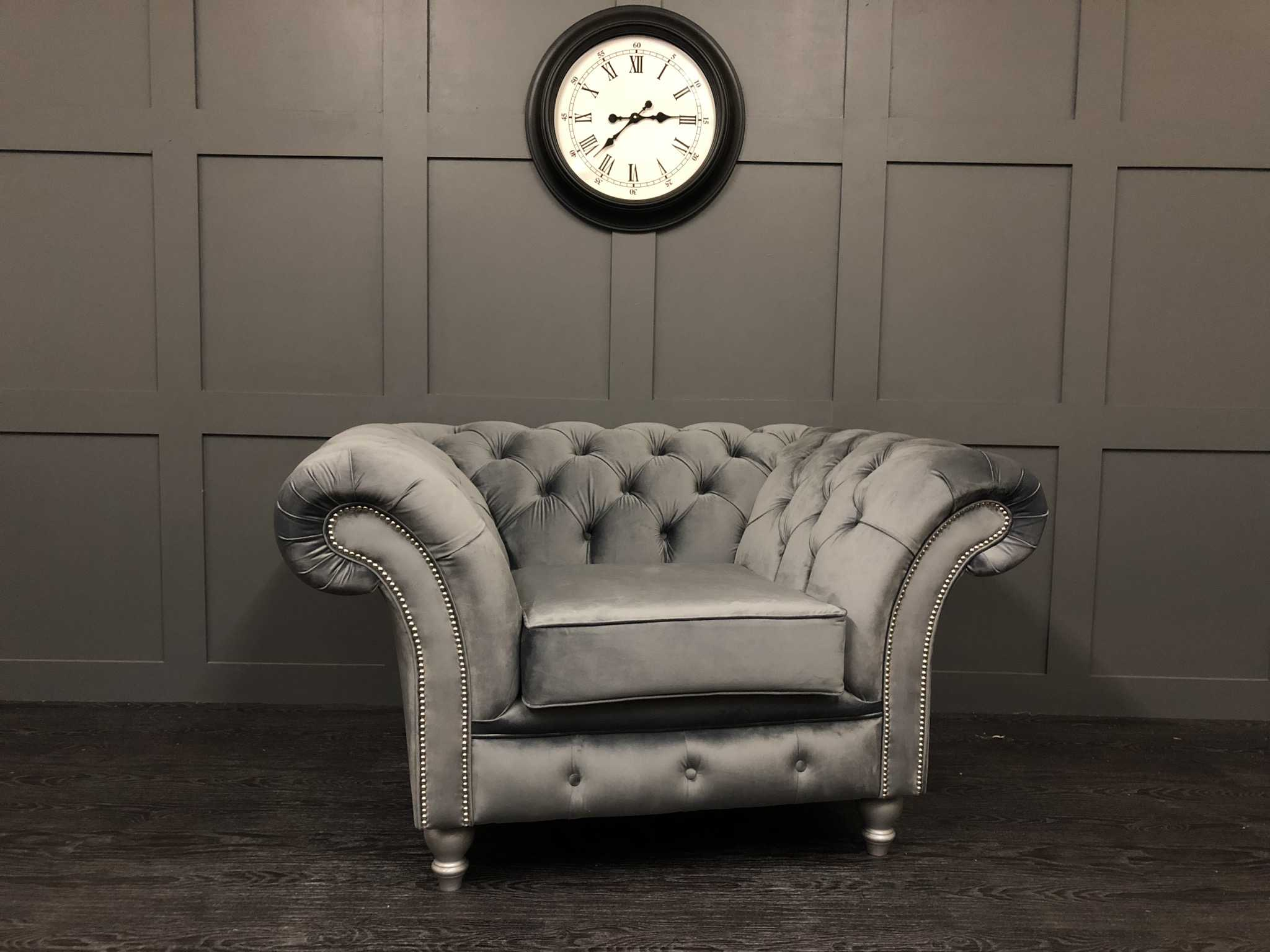 london chesterfield chair cambio granite plush velvet