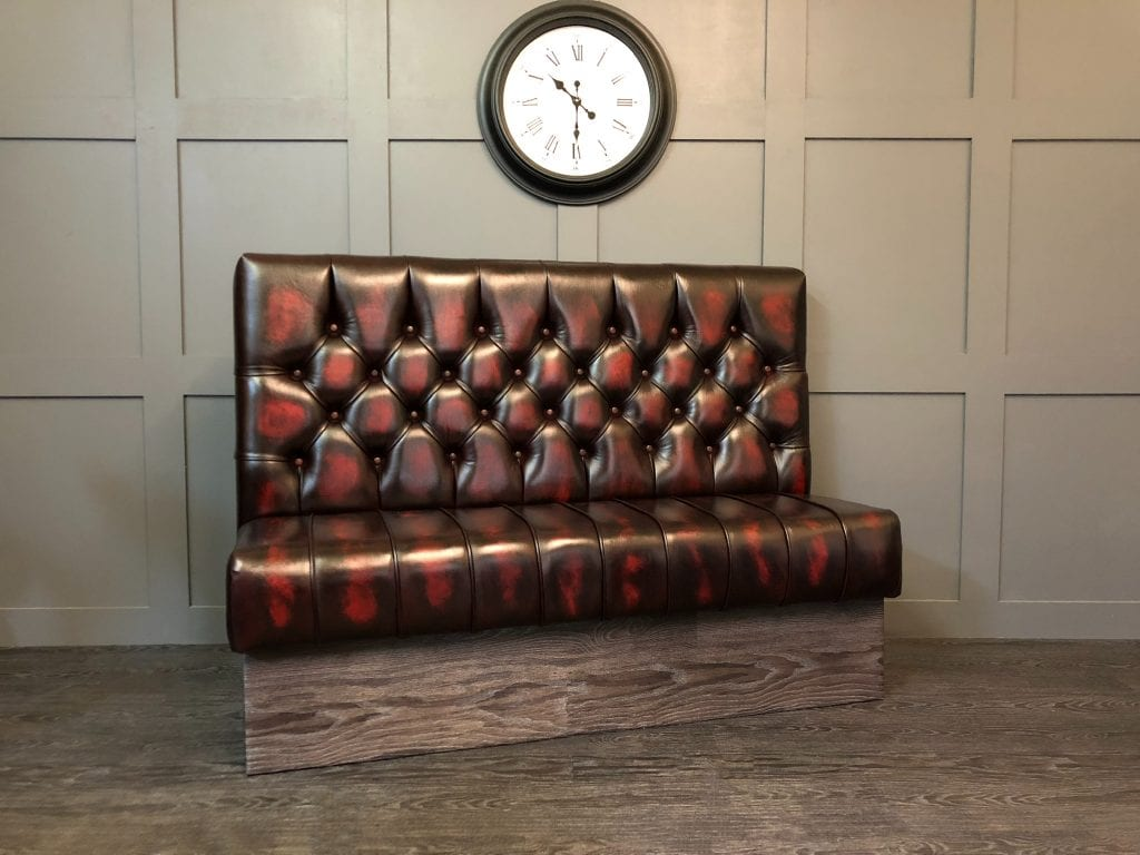 Antique Oxblood Booth Seat