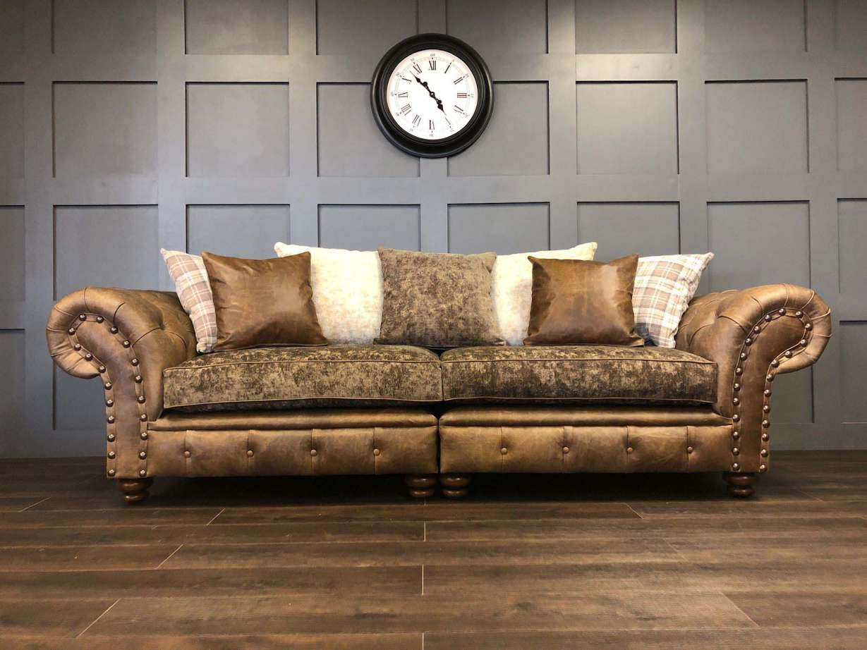 The Persia 4 Seat Sofa - Tabacco - Timeless Sofas
