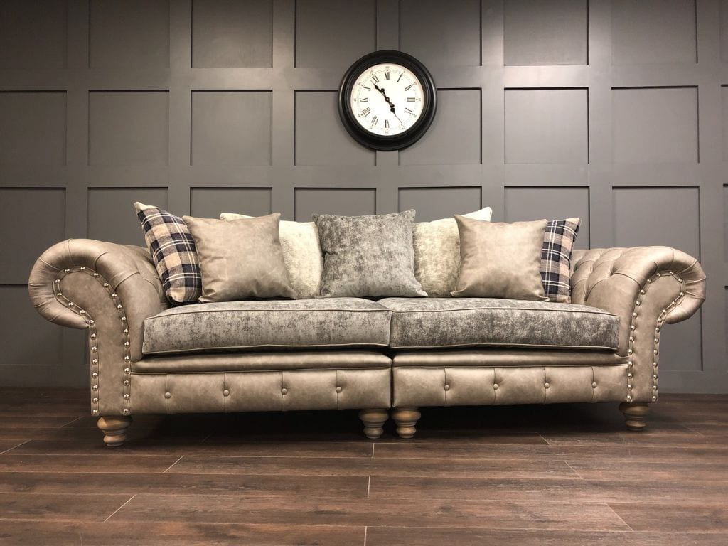The Persia 4 Seat Sofa Grey Timeless Sofas