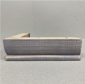 Lime Washed L Block Wooden Foot